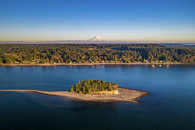 Everett Collection - Rainier Island View by Clinton Ward