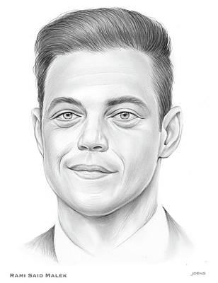 Drawings Royalty Free Images - Rami Malek - Pencil Royalty-Free Image by Greg Joens