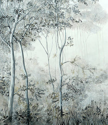 Royalty-Free and Rights-Managed Images - Alberi Nella Nebbia by Guido Borelli