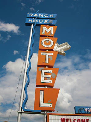 Personalized Name License Plates - Ranch House Motel by Matthew Bamberg
