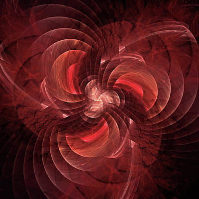 Jodi Diliberto Royalty-Free and Rights-Managed Images - Rapidly Rotating Blades of a Fractal Fan by Jodi DiLiberto