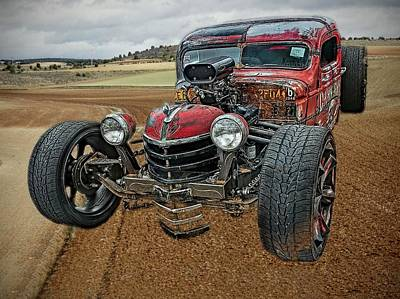 Photograph - Rat Rod in farm field by Phyllis Stokes