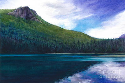 Painting - Rattlesnake Lake by Jacqueline Tribble