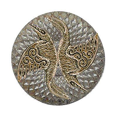 Aloha For Days - Raven Mandala Shield by Michele Avanti