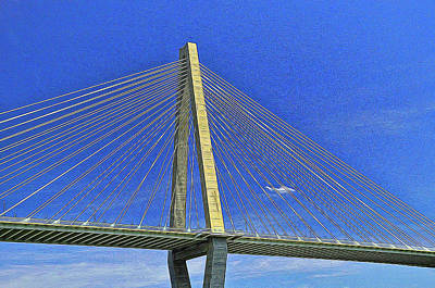 Impressionist Landscapes - Ravenel Bridge  4 - Charleston by Allen Beatty