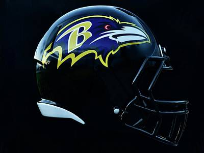 Sports Royalty-Free and Rights-Managed Images - Ravens Football by Frozen in Time Fine Art Photography
