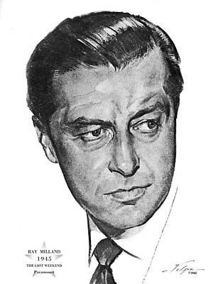 Drawings Royalty Free Images - Ray Milland by Volpe Royalty-Free Image by Stars on Art