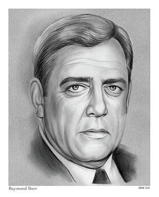 Royalty-Free and Rights-Managed Images - Raymond Burr - pencil by Greg Joens