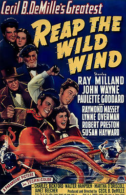 Granger - Reap the Wild Wind, with Ray Milland and Paulette Goddard, 1942 by Stars on Art