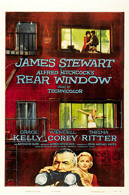 Mixed Media Royalty Free Images - Rear Window 2, with James Stewart and Grace Kelly, 1954 Royalty-Free Image by Stars on Art