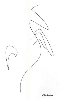 Animals Drawings - Minimal Horse - Drawing by Jean Clarke