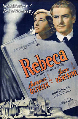 Royalty-Free and Rights-Managed Images - Rebecca 2, with Laurence Olivier and Joan Fontaine, 1940 by Stars on Art