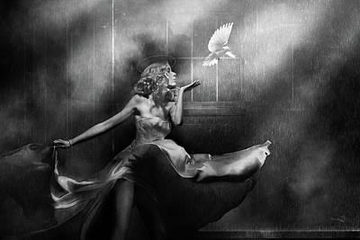 Surrealism Digital Art Rights Managed Images - RECKONING v.2 BW Royalty-Free Image by Dv Art Designs