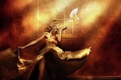 Surrealism Digital Art Rights Managed Images - RECKONING v.2 Royalty-Free Image by Dv Art Designs