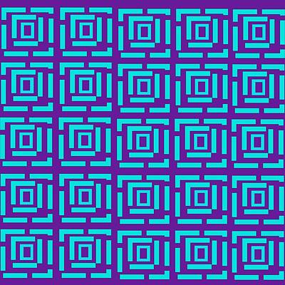Digital Art - Rectangle inside Maze by Wilma Barnwell