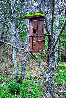 Photograph - Recycle Birdhouse Round by Allen Nice-Webb