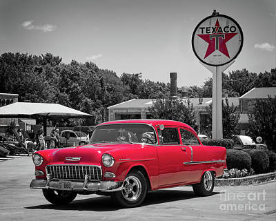 Studio Grafika Patterns Rights Managed Images - Red 55 Chevy Royalty-Free Image by Paul Quinn