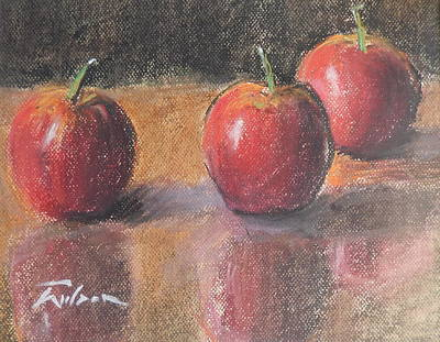 Painting - Red Apples by Ron Wilson