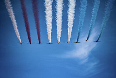 Surrealism Royalty Free Images - RED ARROWS 2 - Surreal Art Royalty-Free Image by Celestial Images