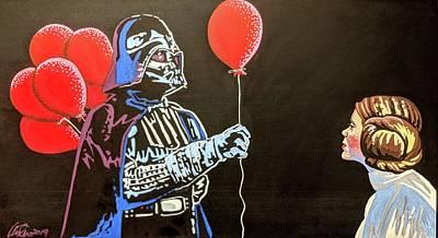 Mixed Media - Red Balloon by Kirsten Beitler