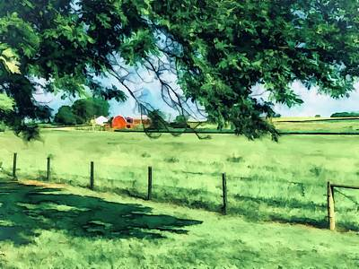 Classic Golf - Red Barn by Eileen Backman