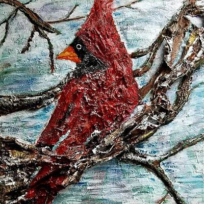 Painting - Red Bird by Natosha Keefer