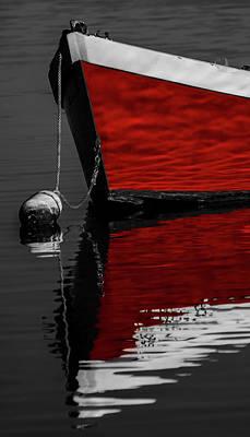 Photograph - Red Boat 2 by Dapixara Art
