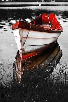 Photograph - Red Boat by Dapixara Art