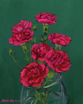 Painting - Red Carnations by Steph Moraca