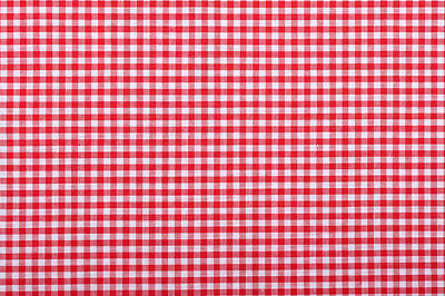 Royalty-Free and Rights-Managed Images - Red Checkered Fabric Closeup, Tablecloth Texture by Julien