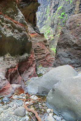 Too Cute For Words - Red colored rocks in the Masca gorge by Sun Travels