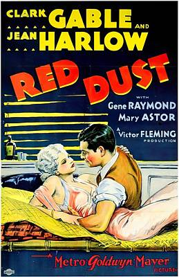 Royalty-Free and Rights-Managed Images - Red Dust, with Clark Gable and Jean Harlow, 1932 -3 by Stars on Art