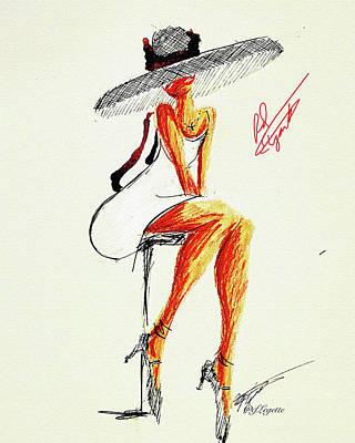 Music Figurative Potraits - Red Elegant Festive by C F Legette