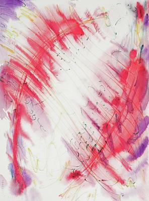 Painting - Red Feathers  by Glen Neff