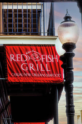 Classic Golf - Red Fish Grill New Orleans Sign by Debra Martz