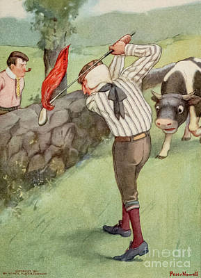 Just Desserts - Red flagged golf club d1 by Historic illustrations