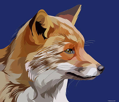 Royalty-Free and Rights-Managed Images - Red fox by Stars on Art