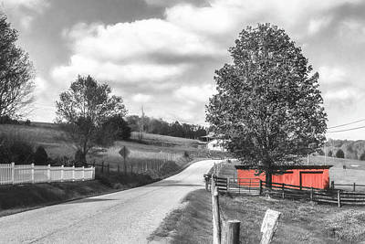 Farmhouse Rights Managed Images - Red Friendship Royalty-Free Image by Jim Love