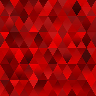 Digital Art - Red Geometric Abstract by Ruth Moratz