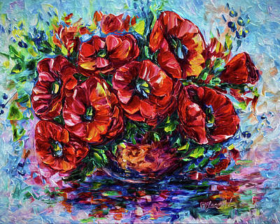 Spot Of Tea Royalty Free Images - Red Poppies In A Vase  SPECIAL offer on sale by OLena Art   Royalty-Free Image by OLena Art - Lena Owens