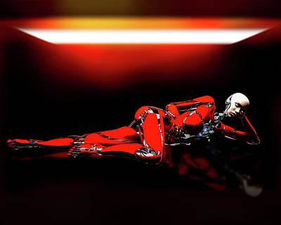 Surrealism Digital Art - Red Reflection by Bob Orsillo