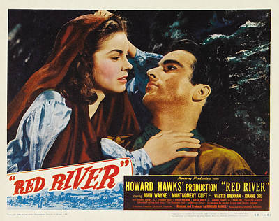Caravaggio - Red River, with John Wayne and Montgomery Clift, 1948 by Stars on Art