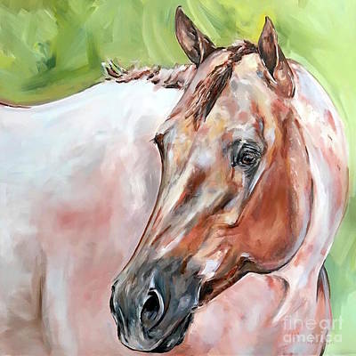 Painting - Red Roan Horse by Maria Reichert