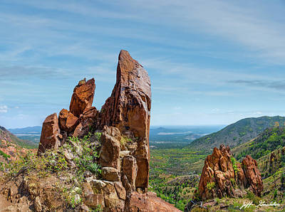 Photograph - Red Rock Formations on Little Elden by Jeff Goulden