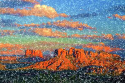 American West - Red Rocks Impression by Alexey Stiop