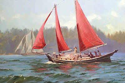 Royalty-Free and Rights-Managed Images - Red Sail Day by Steve Henderson