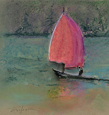 Painting - Red Sail by Ron Wilson