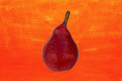 Typographic World - Red pear by Joe Vella