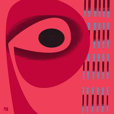 Digital Art - Red Space by Alan Bodner