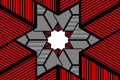 Digital Art - Red Star by Mediamerge - Dan Roitner